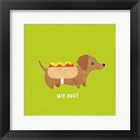 Good Dogs Dachshund Bright Framed Print