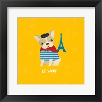 Good Dogs French Bulldog Bright Framed Print