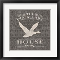 Soft Lodge II Dark Framed Print