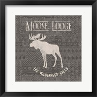 Soft Lodge IV Dark Framed Print