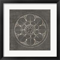 Framed Rosette III Gray