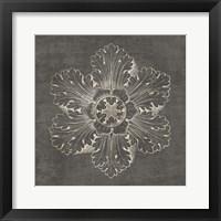 Framed Rosette V Gray