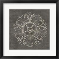 Framed Rosette VI Gray