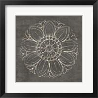 Rosette VII Gray Framed Print