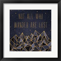 Written in the Stars IV Framed Print