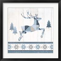 Nordic Geo Lodge Deer III Framed Print