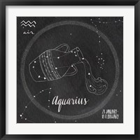 Night Sky Aquarius Framed Print