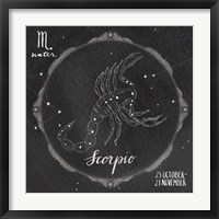 Framed Night Sky Scorpio