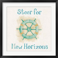 New Horizons I Words Framed Print