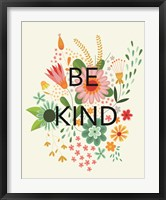 Groovy Florals I Be Kind Framed Print