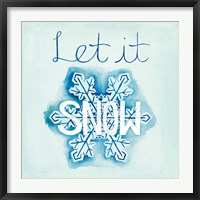 Snowflake Sayings I Framed Print