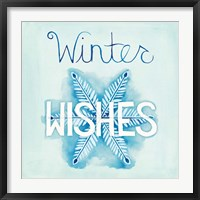 Snowflake Sayings II Framed Print