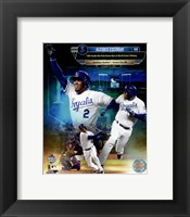 Framed Alcides Escobar 12th Inside-the-park Home Run in world Series History Composite