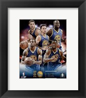 Framed Golden State Warriors 2015-16 Team Composite