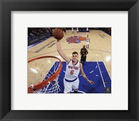Framed Kristaps Porzingis 2015-16 Action
