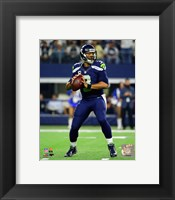 Framed Russell Wilson 2015 Action