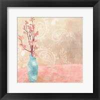 Vase of Cherry Blossoms II Framed Print