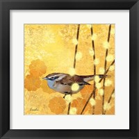 Wren on Yellow I Framed Print