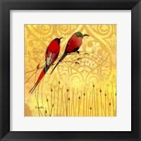 Wren on Yellow II Framed Print