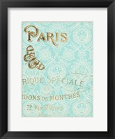 Paris in Gold I Framed Print