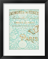 Paris in Gold II Framed Print