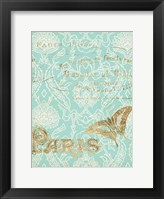 Paris in Gold III Framed Print