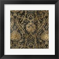 Golden Damask II Framed Print