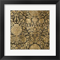 Golden Damask III Framed Print