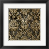 Golden Damask IV Framed Print
