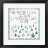 Coastal Inspire IV Framed Print