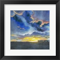 Vivid Sunset I Framed Print
