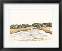 Minimalist Coastline II Framed Print