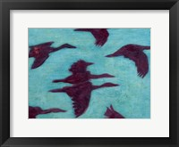 Flying Silhouettes II Framed Print