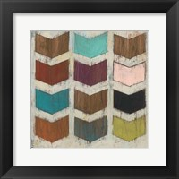 Chevron Matrix I Framed Print