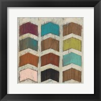 Chevron Matrix IV Framed Print