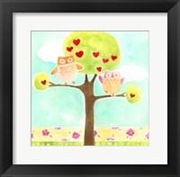 Hoots & Hearts I Framed Print