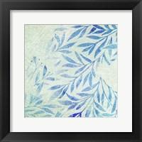 Cerulean Foliage I Framed Print