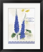 Flower Study on Lace VIII Framed Print