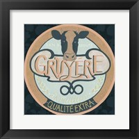 Cheese Label IV Framed Print