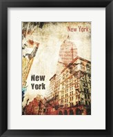 Framed New York Grunge I