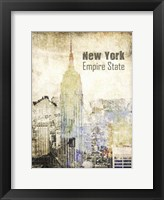 Framed New York Grunge II