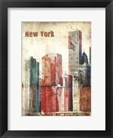 Framed New York Grunge III