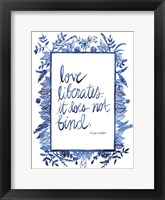 Love Quote I Framed Print