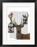 Framed Deer & Bird Cages