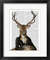 Deer in Chair Framed Print