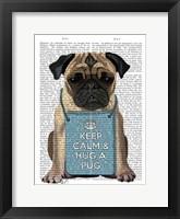 Hug a Pug Framed Print
