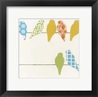Patterned Perch I Framed Print