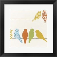 Patterned Perch III Framed Print