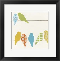 Patterned Perch IV Framed Print