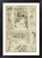 Map of the Coast of England I Framed Print